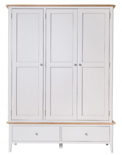 Scandia Grey Large 3 Door Wardrobe